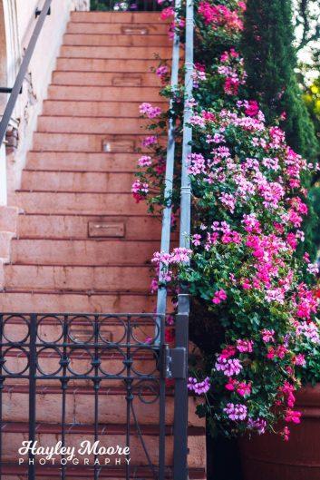 Disney World Epcot Florals Stairs