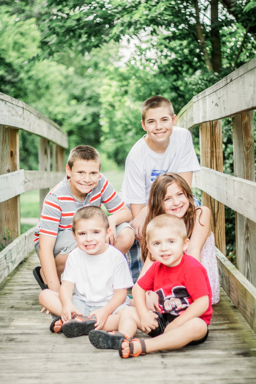 Portrait of a family of five