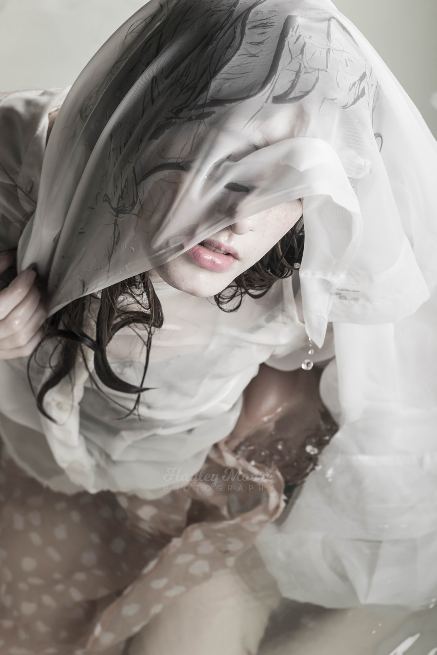Girl In Water with drapes
