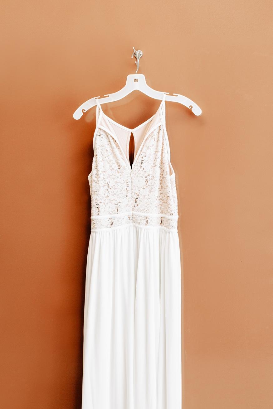 Wedding Dress Hung Up
