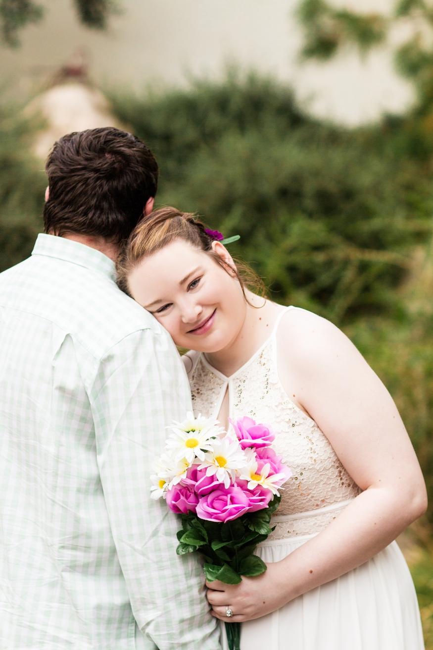 Bride and Groom Portraits Botanical Gardens