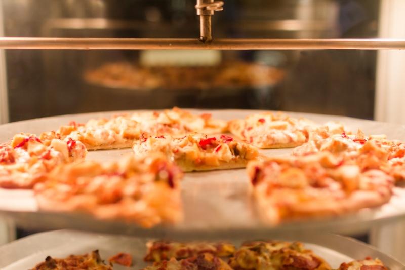 Pizza in warmer